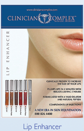 Lip Enhancer Display Poster
